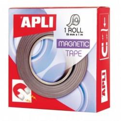 APLI Ruban magnétique adhésif  19 mm x 1 m