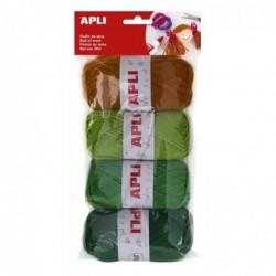 APLI Pelotes de laine - 4 unités environ 90 m