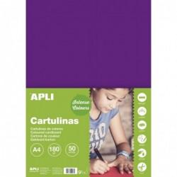 APLI Etui Cartoline de Bricolage 180G A4 50F LILAS
