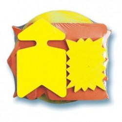AGIPA Paquet de 20 découpes fluo assorties effaçable à sec Assortie