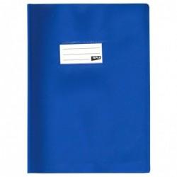 APLI Protège-cahier PVC 19/100ème 24 x 32 cm Opaque Bleu