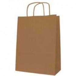 AGIPA Paquet de 50 Sacs cadeau Kraft Vergé 100g (L)180 x (P)8 x (H)210 mm Brun