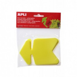 AGIPA Paquet de 10 flèches en polypropylène  8 x 12 cm