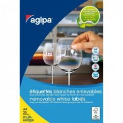 AGIPA Etui 5750 étiquettes 18x12 mm (230 x 25F A4) Multi-usage