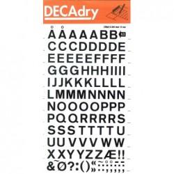 DECADRY Lettres Transferts (1 Feuille) DD63F 10 mm Noir