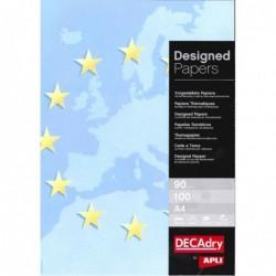 DECADRY Papier de communication A4 80g 100 feuilles Illustrée EUROPE