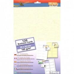 DECADRY Pochette 120 cartes de visite pré-imprimées MicroLine - 165g 85 x 54 mm