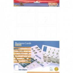 DECADRY Pochette 64 cartes de visite blanches mates MicroLine - 200g 85 x 54 mm