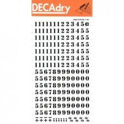 DECADRY Pochette 1 feuille chiffres transfert N°30  7 mm