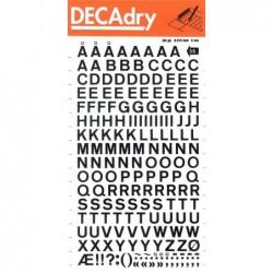 DECADRY Pochette 1 feuille lettres transfert noir N°56 (8 mm) 8 mm