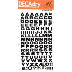DECADRY Pochette 1 feuille lettres transfert N°66  8 mm