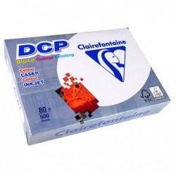 CLAIREFONTAINE Ramette 500 Feuilles Papier DCP 80g A4 210x297 mm Certifié FSC  Blanc