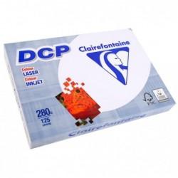 CLAIREFONTAINE Ramette 125 Feuilles Papier DCP 280g A4 210x297 mm Certifié FSC  Blanc