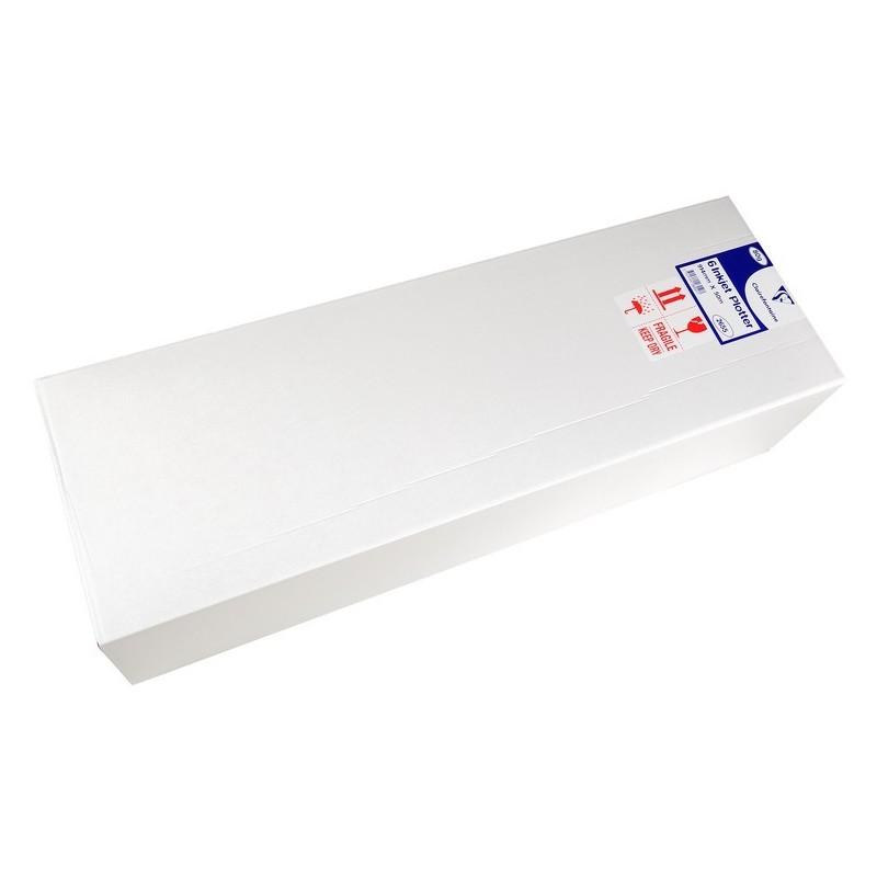 CLAIRALFA Lot de 6 Bobines Traceur Jet d'encre 80g 914x50 ml Blanc