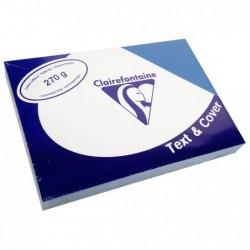 CLAIREFONTAINE Pqt de 100 Couvertures reliure Text&Cover Toilé 270g A4 210x297 mm Bleu écolier