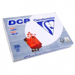 CLAIREFONTAINE Pack 125 Feuilles Papier DCP 350g A4 210x297 mm Certifié FSC  Blanc