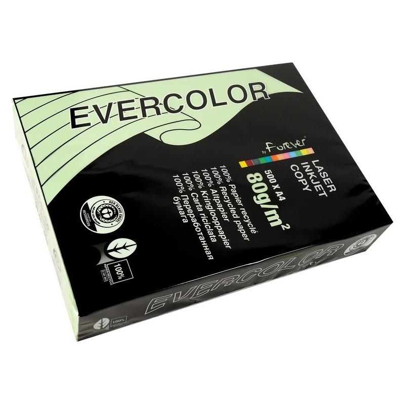 EVERCOLOR Ramette 500 Feuilles Papier 80g A4 210x297 mm Certifié Ange Bleu Vert