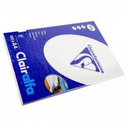 CLAIRALFA Ramette 100 Feuilles Papier 80g A4 210x297 mm Certifié PEFC  Blanc