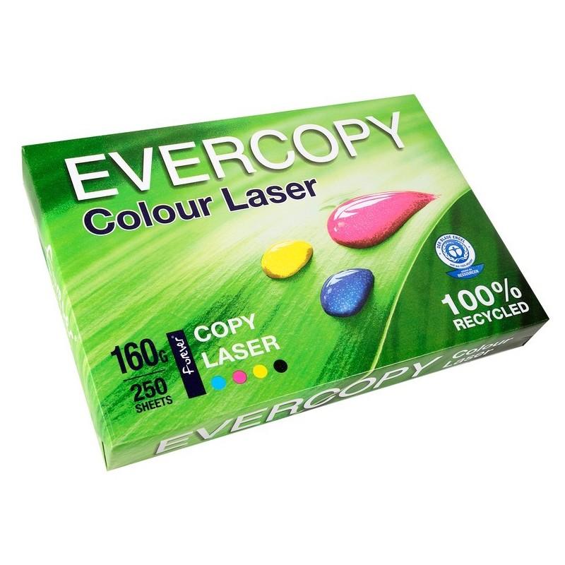 EVERCOPY Ramette 250 Feuilles Papier 160g A4 210x297 mm Certifié Ange Bleu Laser Blanc