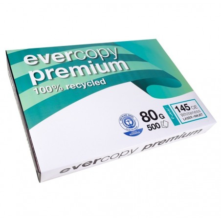 EVERCOPY Ramette 500 Feuilles Papier 80g A3 420x297 mm Certifié Ange Bleu Premium Blanc