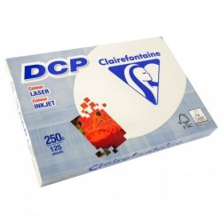 CLAIREFONTAINE Ramette 125 Feuilles Papier DCP 250g A4 210x297 mm Certifié FSC  Ivoire
