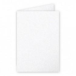 POLLEN Pack de 25 Carte 210g pliée 110x155 blanc irisé