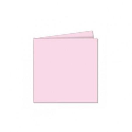 POLLEN Pqt de 25 Carte pliée Pollen 110x110 rose dragee