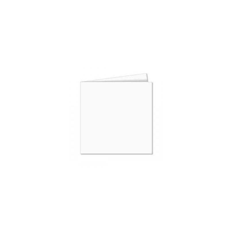 POLLEN Pqt de 25 Carte pliée Pollen 110x110 blanc