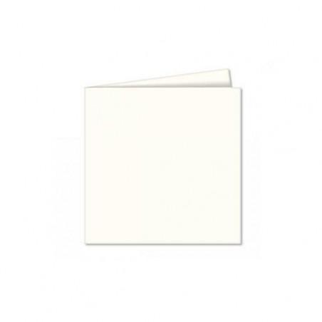 POLLEN Pqt de 25 Carte pliée Pollen 110x110 ivoire