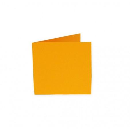 POLLEN Pqt de 25 Carte pliée Pollen 110x110 capucine