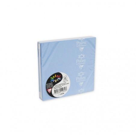 POLLEN Pqt de 25 Carte pliée Pollen 110x110 bleu lavande