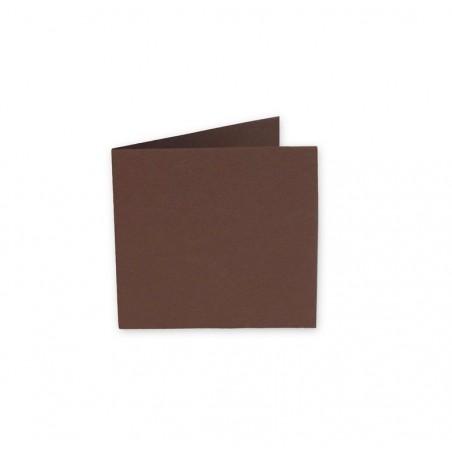 POLLEN Pqt de 25 Carte pliée Pollen 110x110 cacao