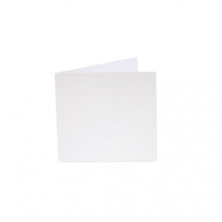 POLLEN Pqt de 25 Carte pliée Pollen 110x110 blanc irisé