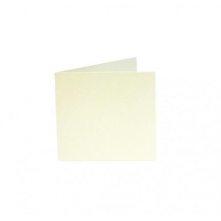 POLLEN Pqt de 25 Carte pliée Pollen 110x110 ivoire irisé