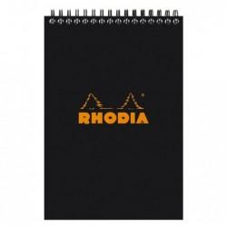 RHODIA Bloc Reliure Intégrale Classic BLACK 14,8x21cm 5x5 80F microperforées 80g
