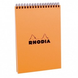 RHODIA Bloc RI Classic ORANGE 14,8x21cm 5x5 80F microperforées 80g