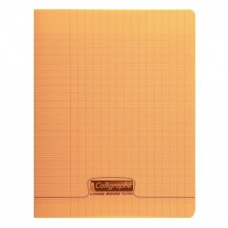 CALLIGRAPHE Cahier piqué POLYPRO 17x22 cm 48 p séyès 90g Orange