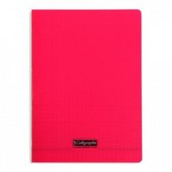 CALLIGRAPHE Cahier piqué POLYPRO 21x29,7 cm 96p séyès 90g Rouge