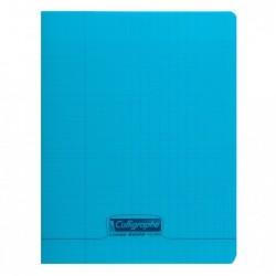 CALLIGRAPHE Cahier piqué POLYPRO 24x32 cm 48p séyès 90g Bleu