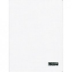 CALLIGRAPHE Cahier Couverture Polypro 90g 24 x 32 cm 96 p Petits carreaux 5x5 Translucide