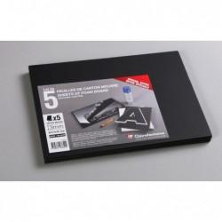 CLAIREFONTAINE Lot 5 Feuilles Carton mousse Epaisseur 3 mm A4 Noir