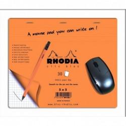 RHODIA Tapis de souris Clic Bloc 19x23 30F 5x5 en display de 30 pièces