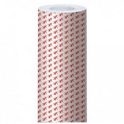 CLAIREFONTAINE Rlx papier cadeaux ALLIANCE L70 cm x 50 m Rennes rouges