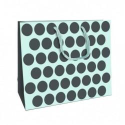CLAIREFONTAINE sac shop 35x10x27,5cm bleu/gris