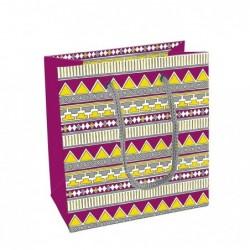 CLAIREFONTAINE sac petit 14x7,5x15cm patchwork