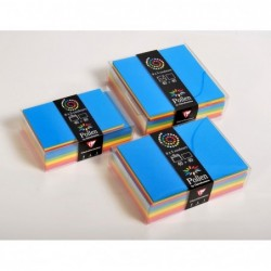 POLLEN Coffret 40 enveloppes 114x162 + 40 cartes 110x155 Eté (5 couleurs)