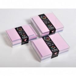 POLLEN Coffret 40 enveloppes 140x140 + 40 cartes 135x135 Naissance (5 couleurs)