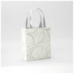 CLAIREFONTAINE Sac petit 12x4,5x13,5cm Blanc arabesque