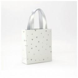 CLAIREFONTAINE Sac petit 12x4,5x13,5cm Blanc cœur