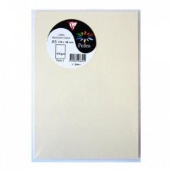 CLAIREFONTAINE Sachet de 5 cartes 148x210 ivoire irisé 210g